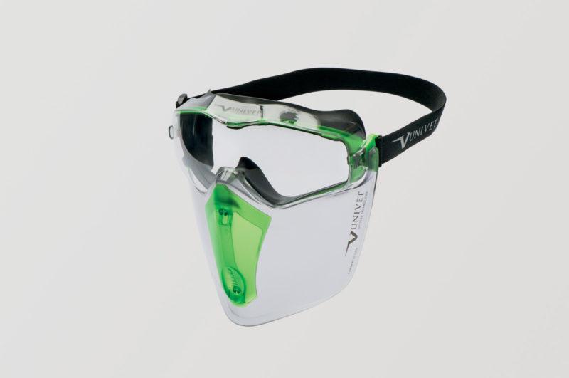 UNIVET Safety Maschera 6x3 con protezione facciale