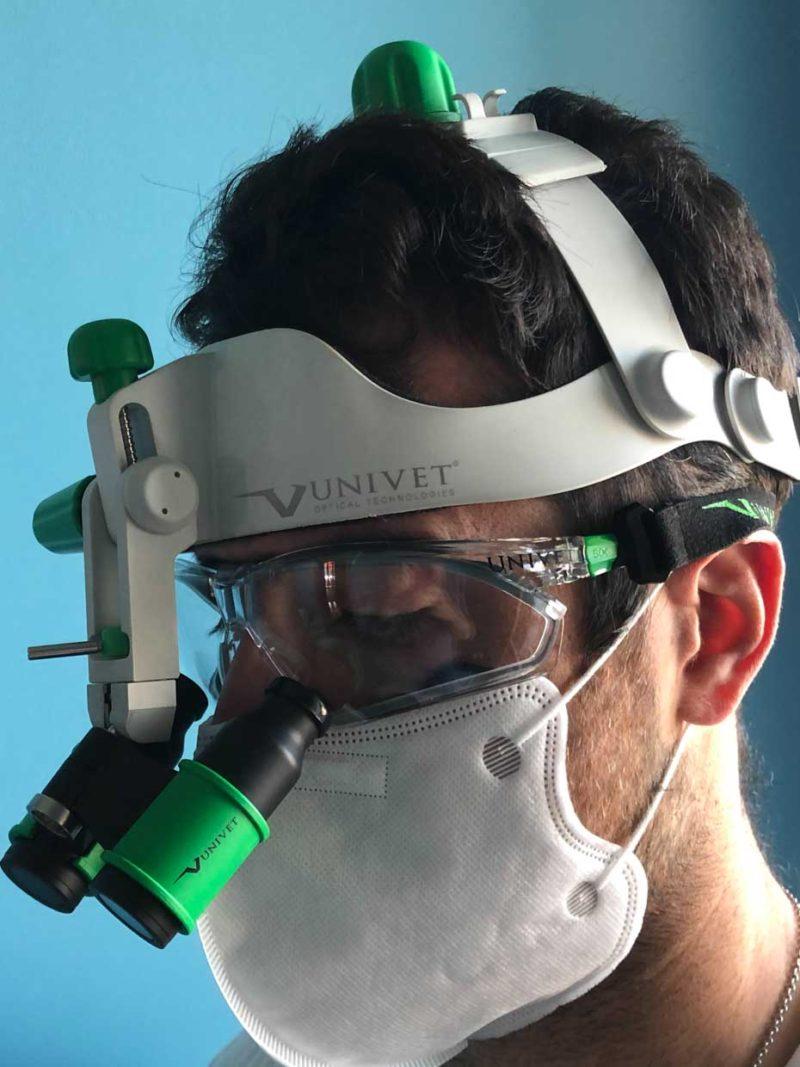 Univet Caschetto flip up con occhiali Univet 506UP Hybrid
