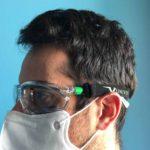 Occhiali Univet 506UP Hybrid senza elastico con mascherina