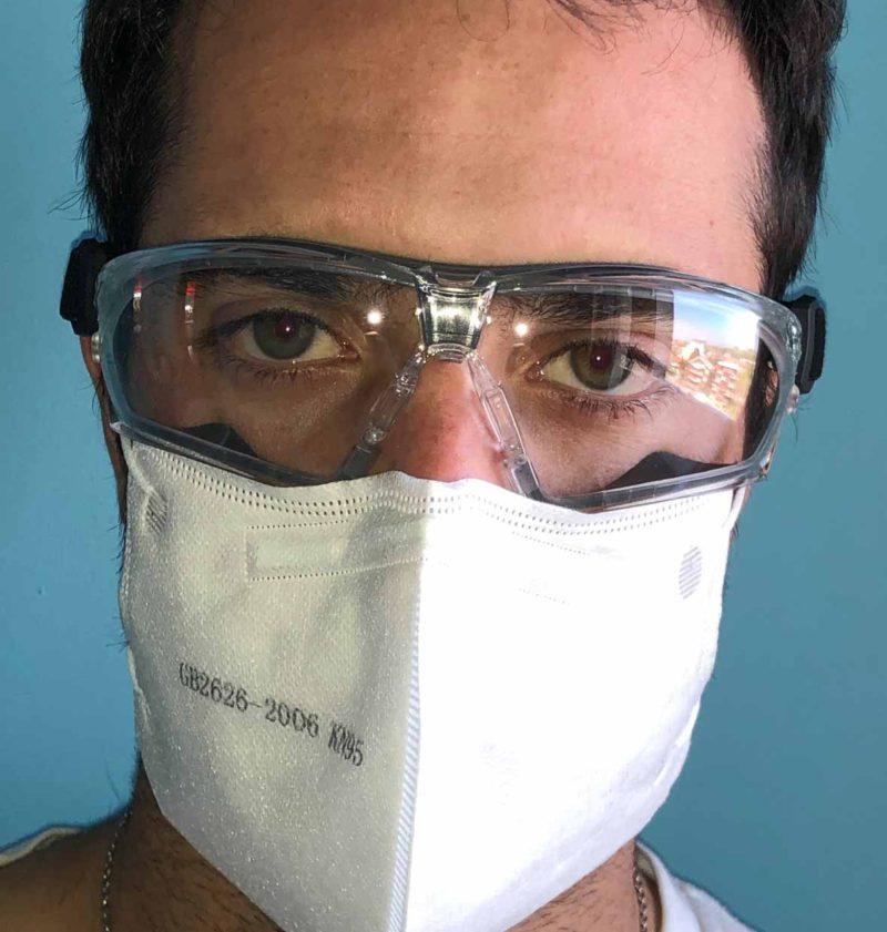 Occhiali Univet 506UP Hybrid con mascherina