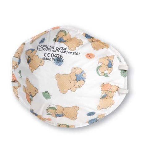 Mascherina BLS 604 con orsetti per ortodonzia e pedodonzia bambini