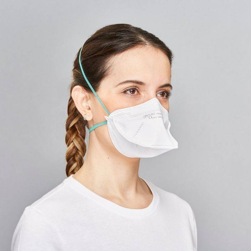 Mascherina facciale filtrante a becco BLS 502 FFP2 R D
